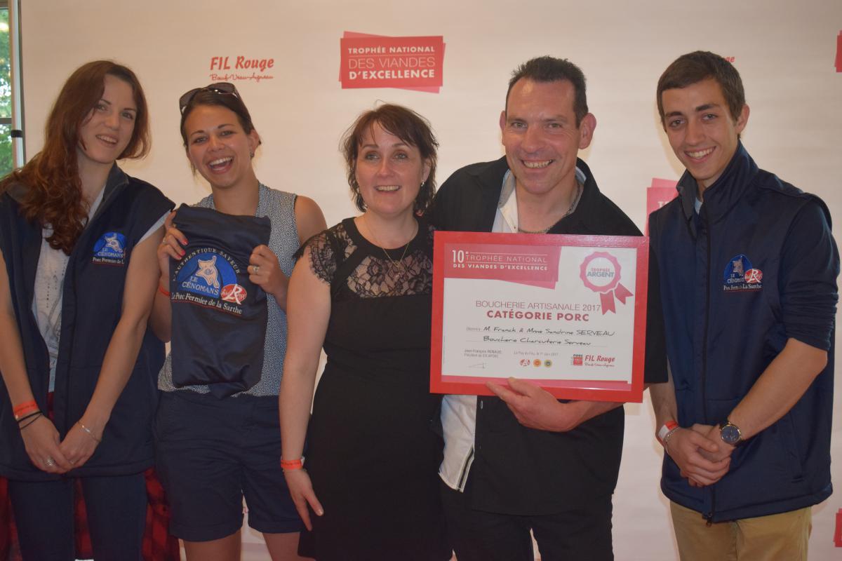 Trophée d'Argent - Catégorie porc, remis lors du 10ème Trophée National des Viandes d'Excellence