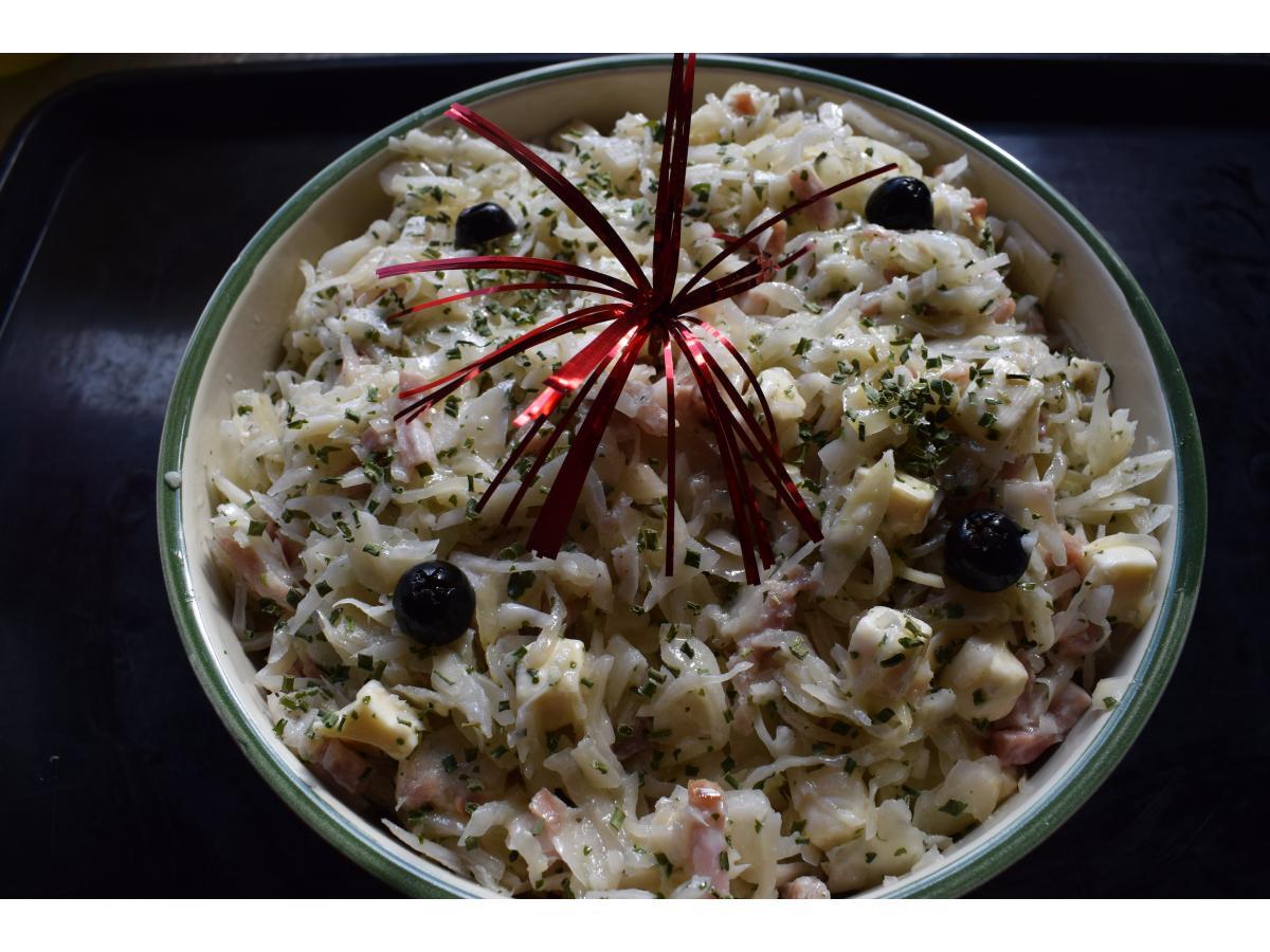 Salade Berlinoise (chou blanc, Jambon, Fromage)