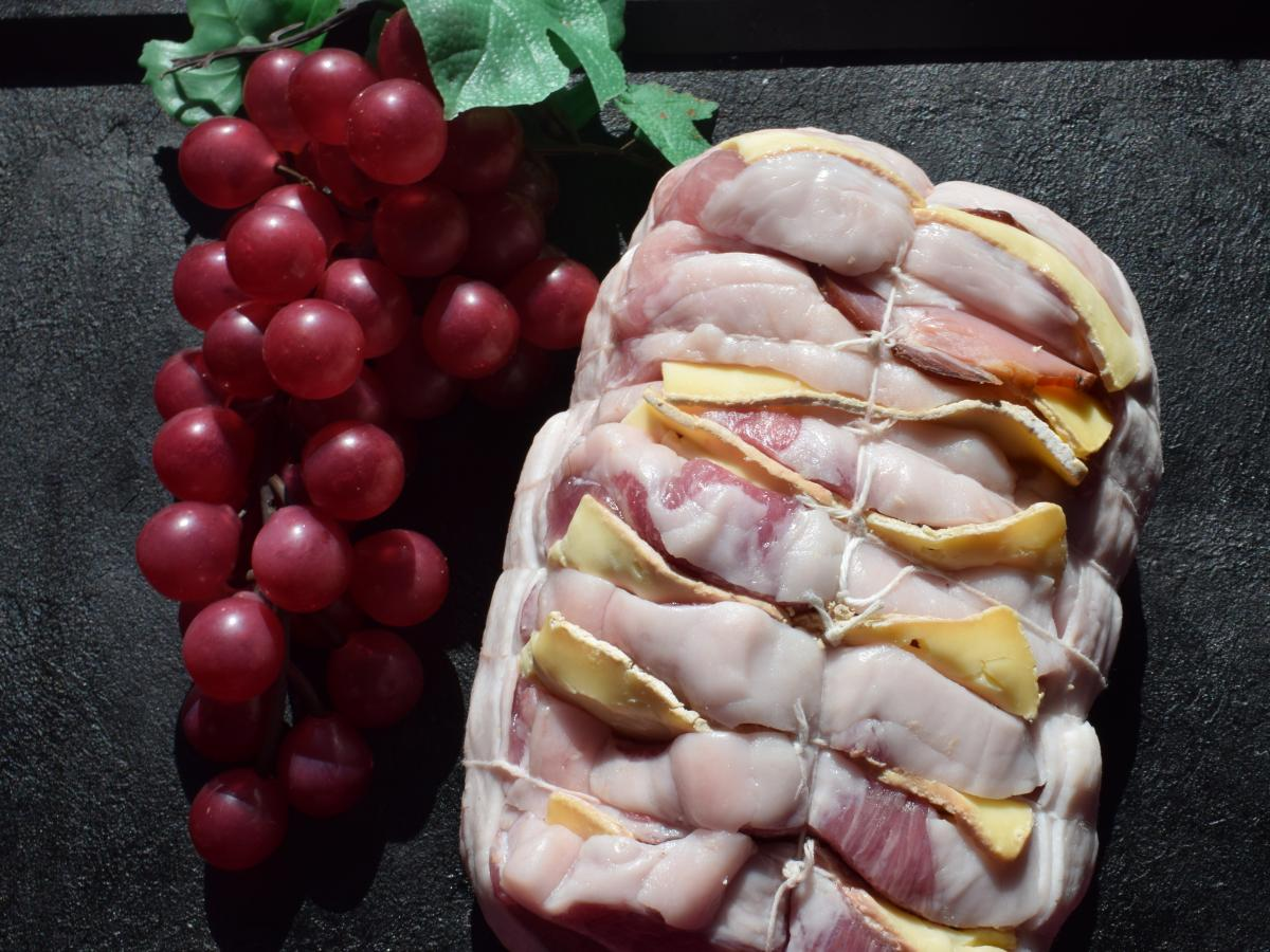 Rôti de porc à la tomme bio