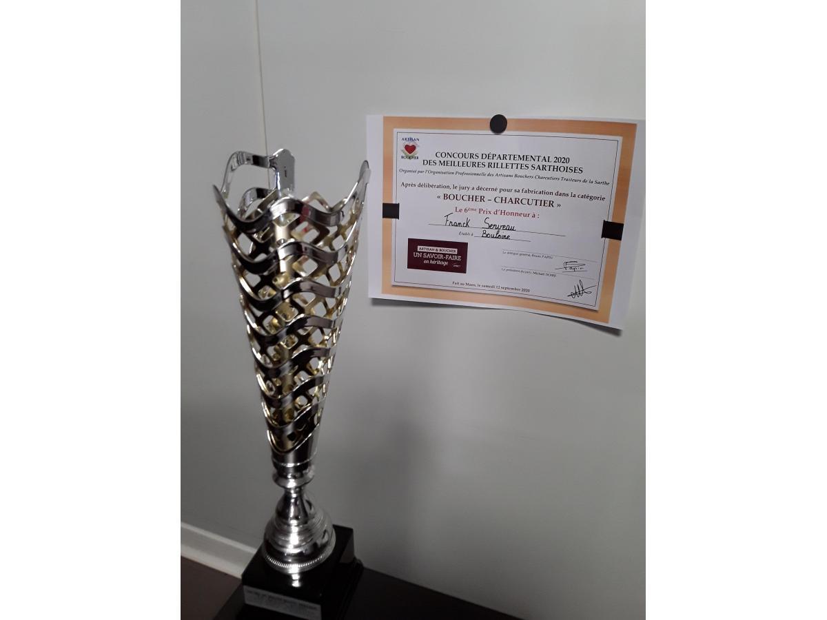 6e Prix d'honneur catégorie Boucher Charcuterie