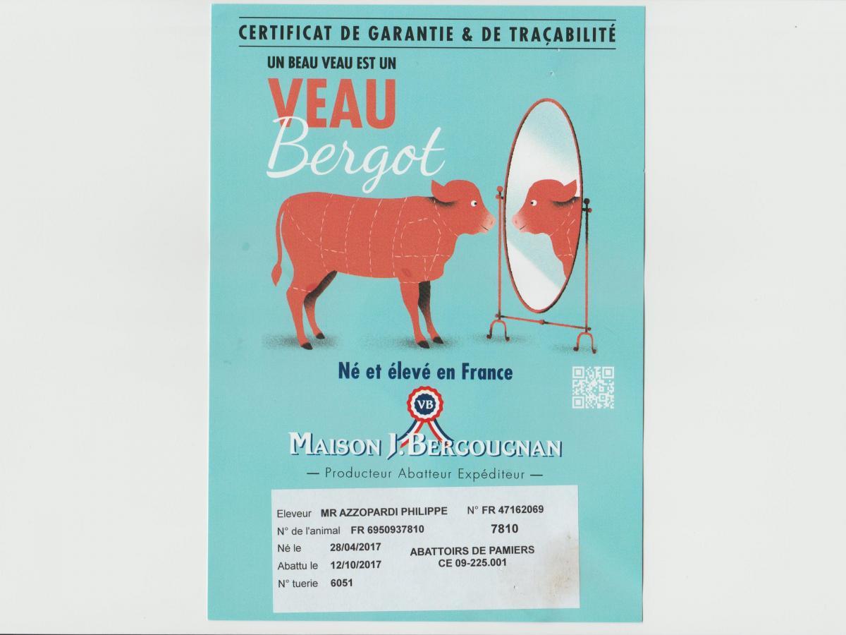 Veau de lait Français