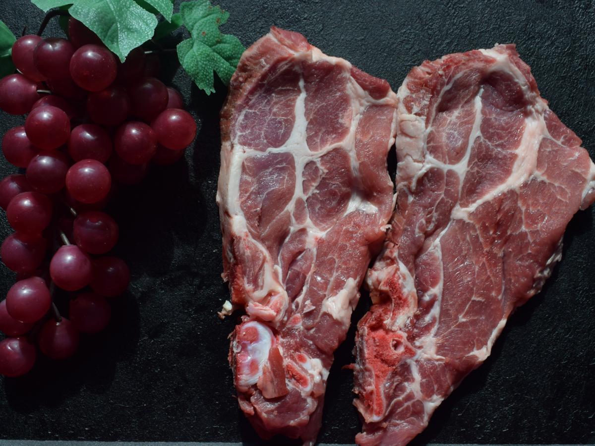 Côte de porc Echine Porc label rouge Cénomans