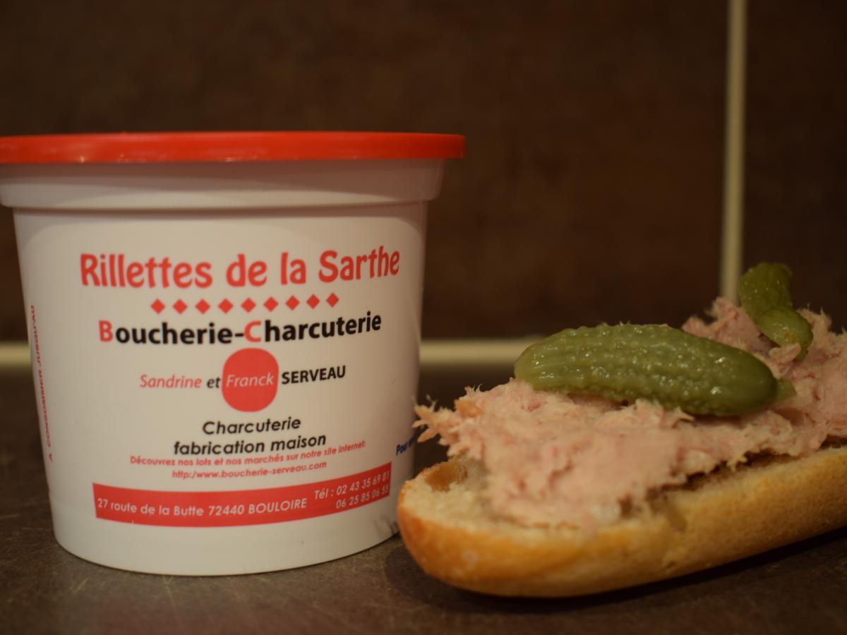 Pot de rillettes de 230g Porc fermier label rouge Cénomans au sel de Guérande