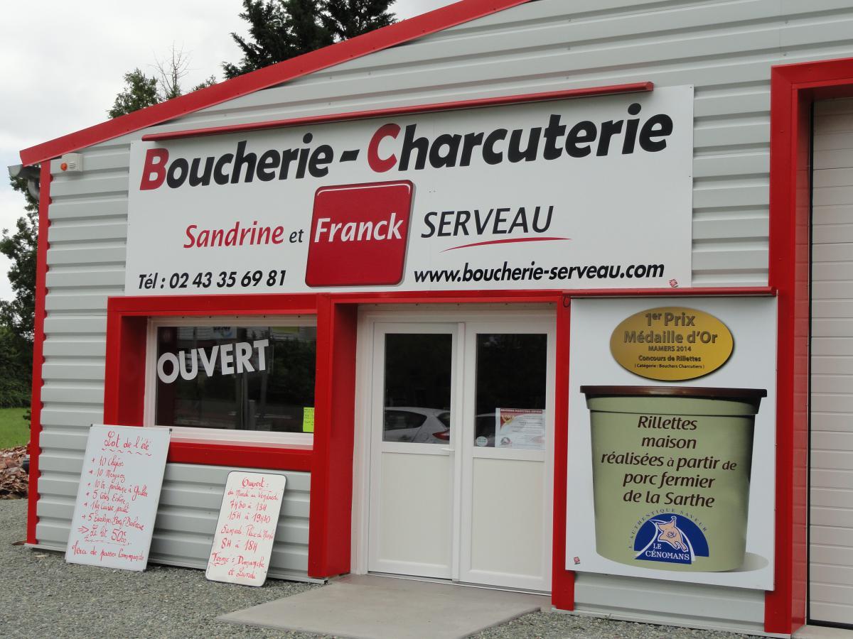 Boucherie Charcuterie, 27 route de la butte à Bouloire (72).