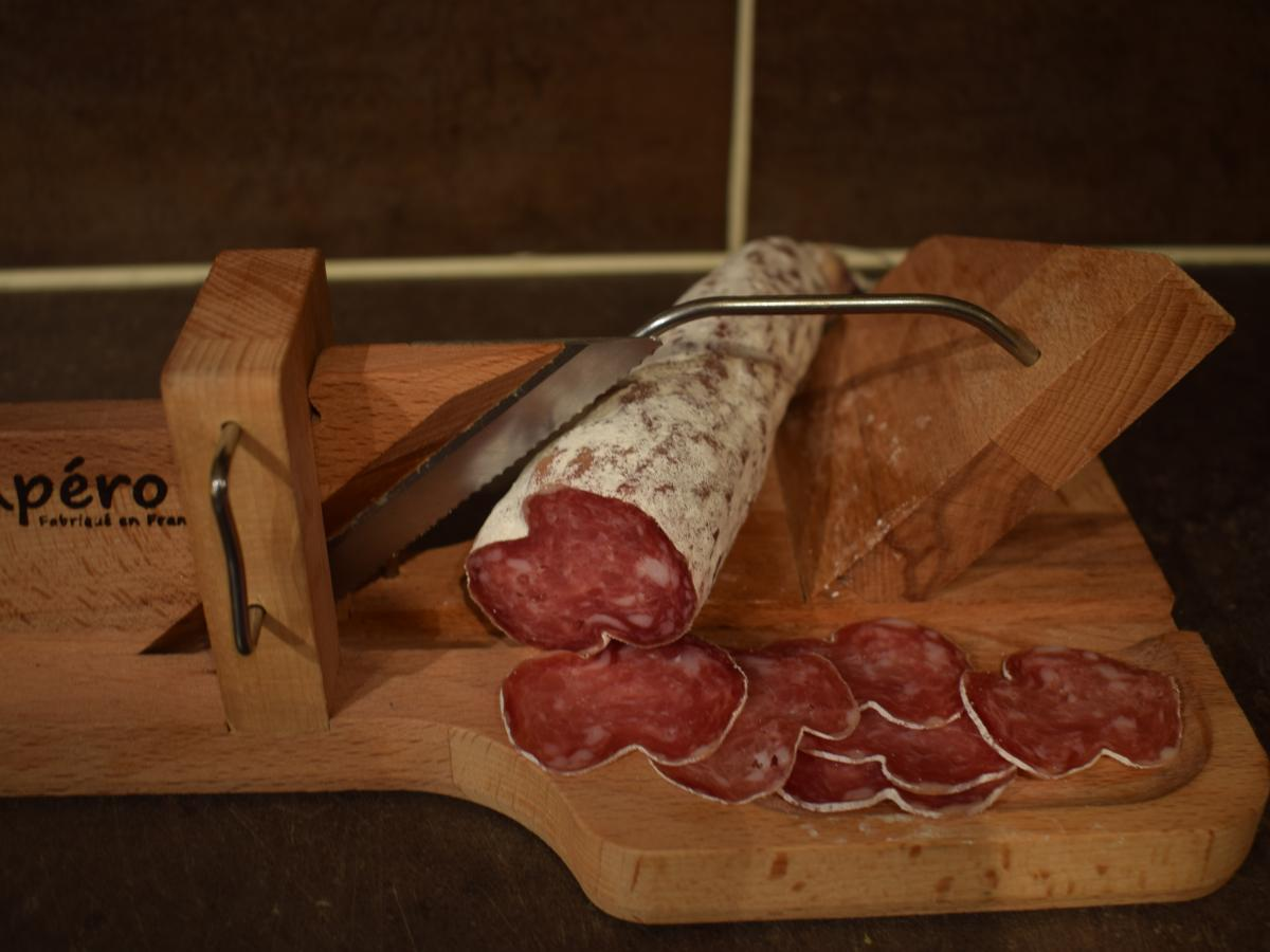 Saucisson Porc ou Boeuf maison. Porc fermier label rouge Cénomans